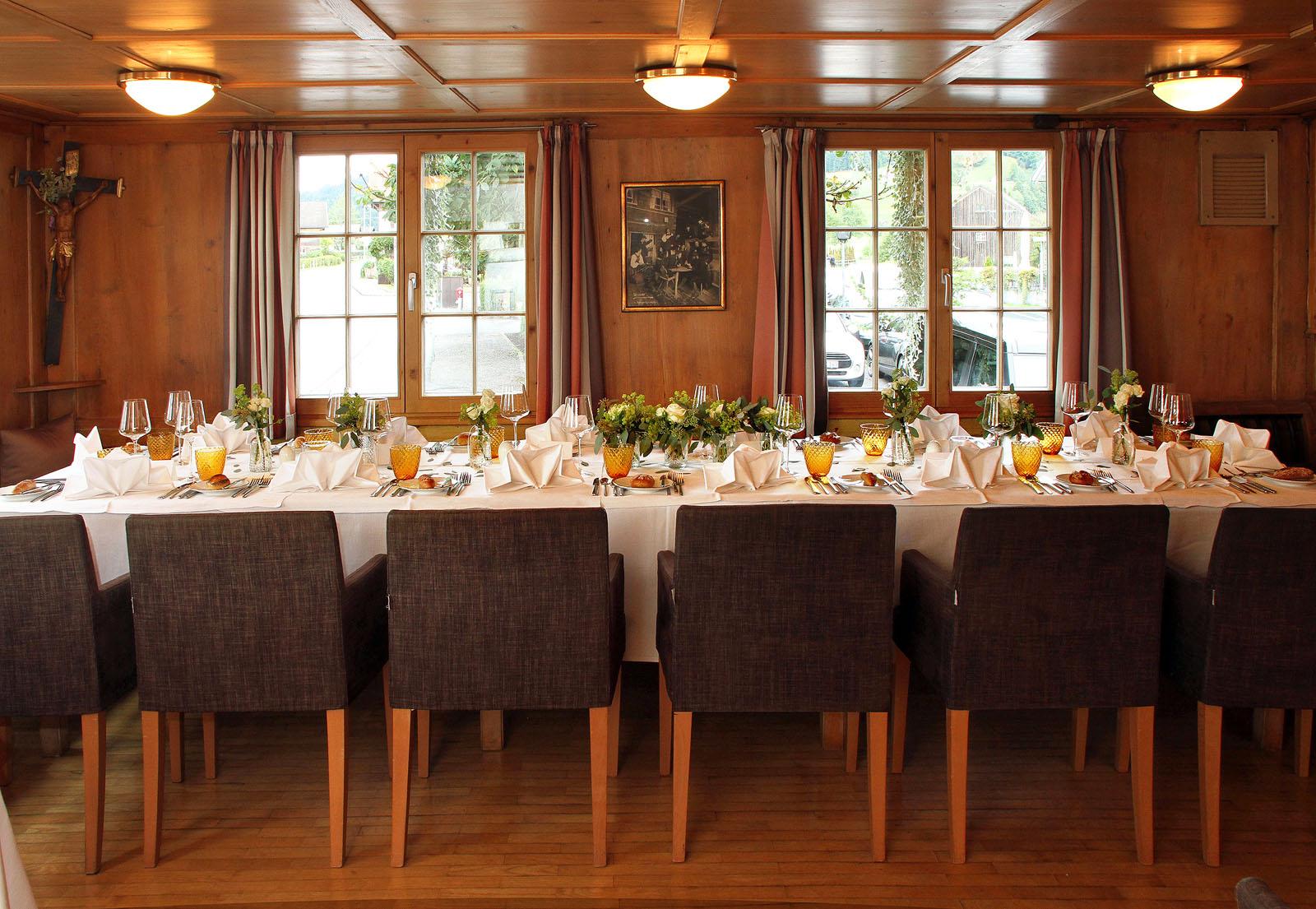 Das Schiff - Hochzeitstafel