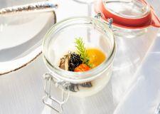 Onsen-Ei mit Hijiki und Trüffel